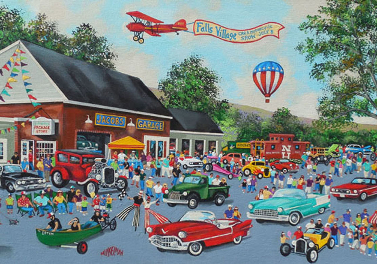 Big Day In The Village (18 x 36)
