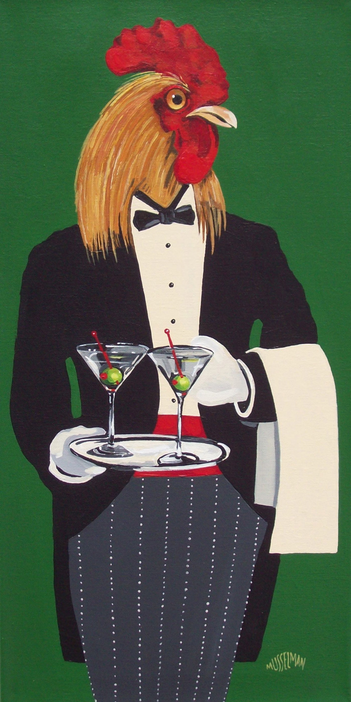 Cocktails For Two   (12 x 24)