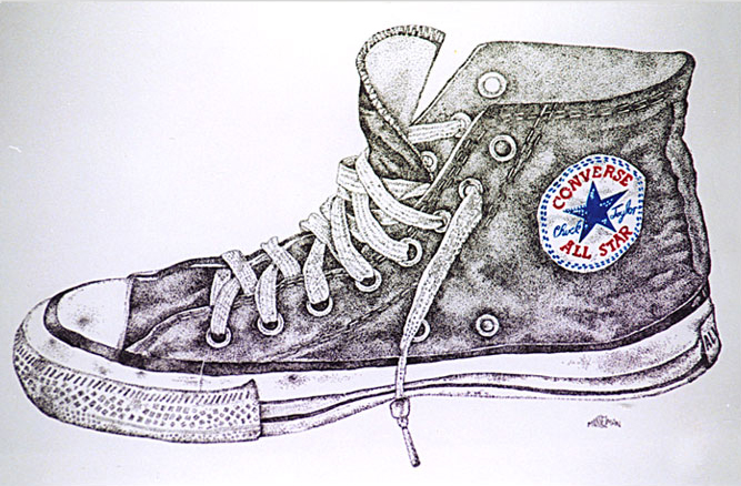 Converse All Stars  (pen & ink)