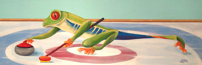Curling Frog   (24 x 12)