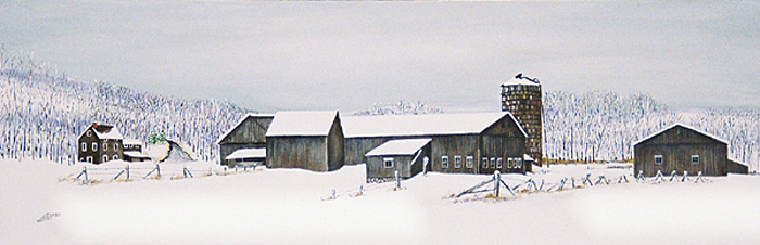 Ford Farm Shed in the Snow #2