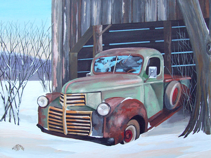 Old Truck Out Back   (18 x 14)
