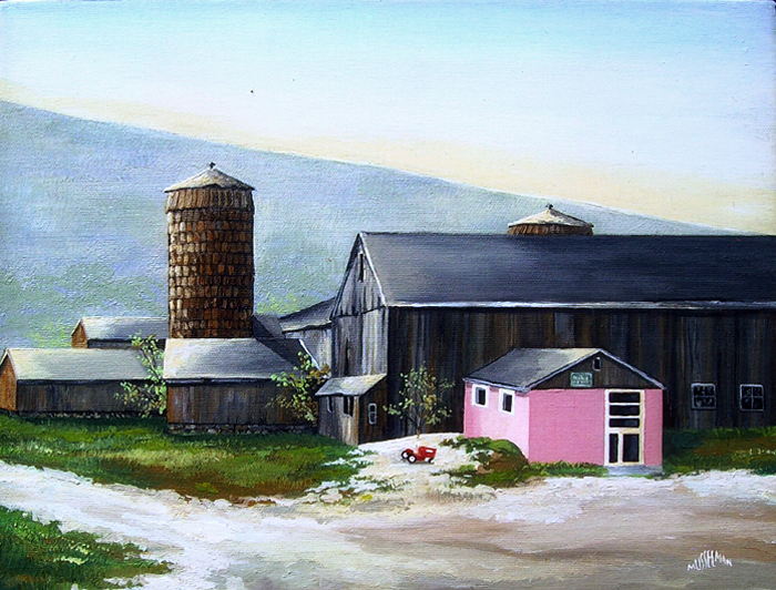 Pink Milkhouse   (11 x 14)