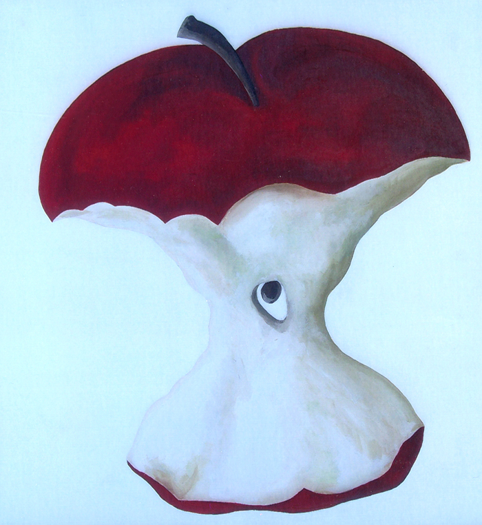 Red Apple #5   (30 x 30)