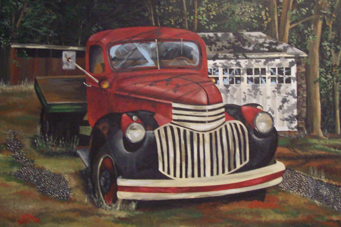 Red Truck   (18 x 14)