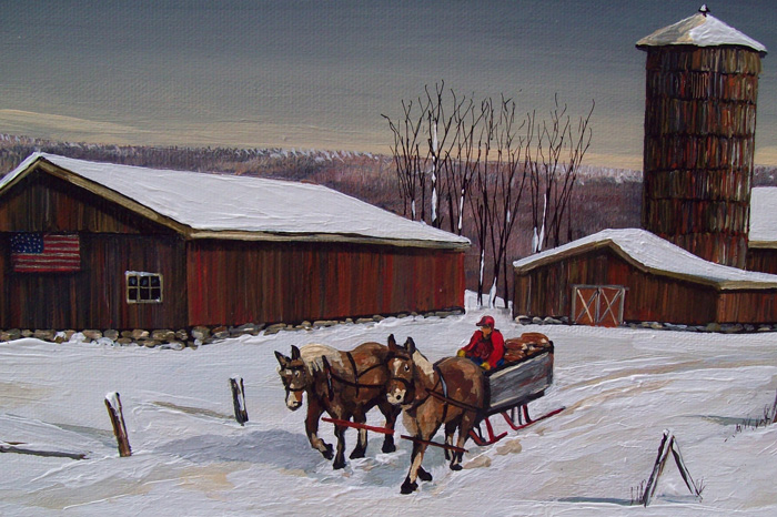 The Old Farm Sleigh   (24 x 8)