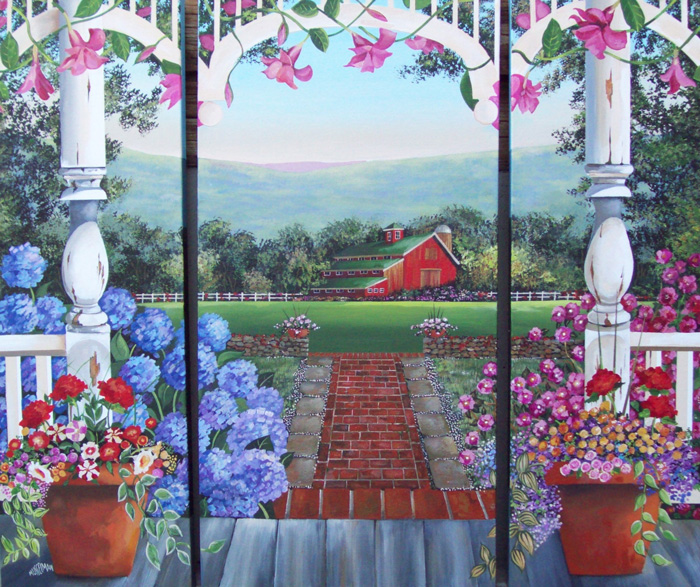Weekend In The Country   (42 x 36 - Triptych)